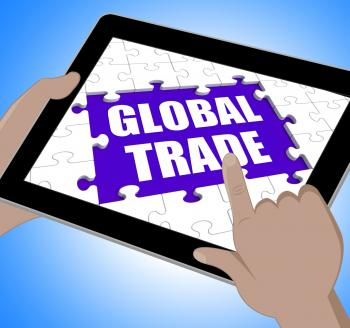 Global Trade Tablet Shows Web International Business