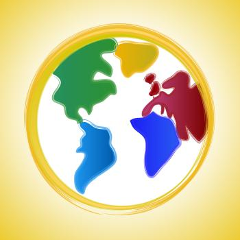 Globe Background Indicates Earth Backdrop And Worldly