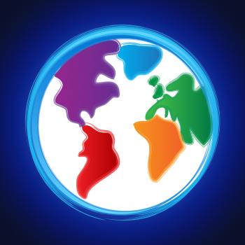 Globe Background Represents Planet Abstract And Template