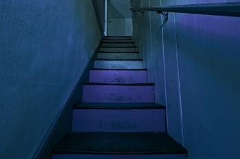 Gloomy Lockhouse Staircase - HDR