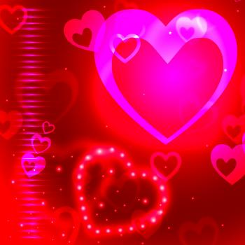 Glow Background Indicates Valentine Day And Backgrounds