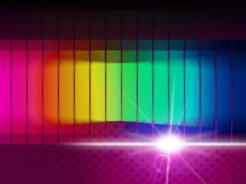 Glow Spectrum Shows Color Guide And Chromatic