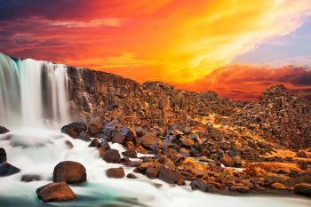 Glowing Axe Falls