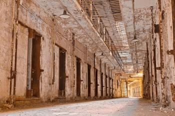 Glowing Prison Corridor - HDR