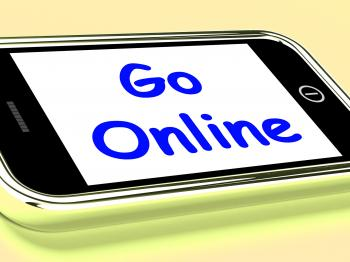 Go Online On Phone Shows Use Web Internet
