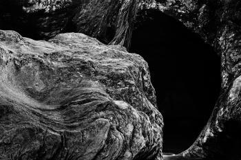 Gobble Rock Cave - Black & White HDR