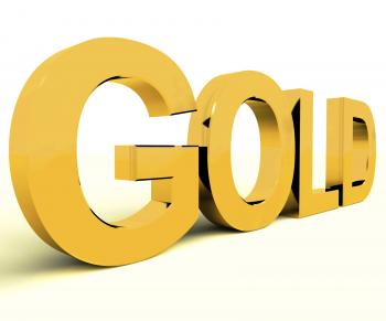 Gold Letters As Symbol For Wealth Or Riches