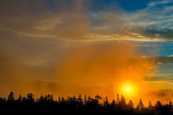 Gold Mist Sunset - HDR