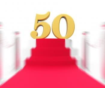 Golden Fifty On Red Carpet Displays Fiftieth Cinema Anniversary Or Rem