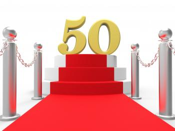 Golden Fifty On Red Carpet Shows Fiftieth Cinema Anniversary Or Rememb