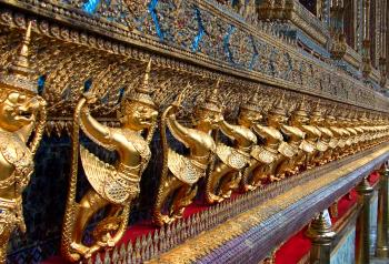 Golden Garuda at Wat Phra Kaew
