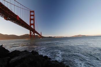 Golden Gate Bridge over Water
