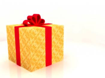Golden Gift Background
