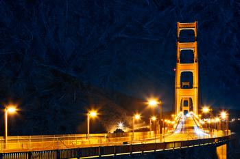 Golden Glacier Bridge