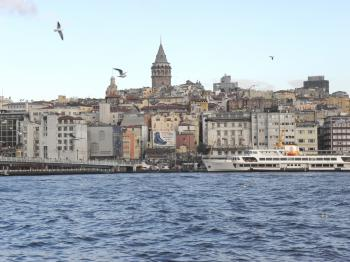 Golden Horn & Galata Tower in Istanb