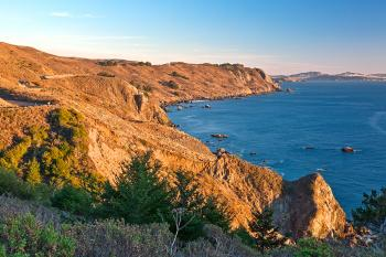 Golden Hour Coast - Point Reyes HDR