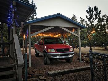 Got The Lights up on Red Dog's Shelter