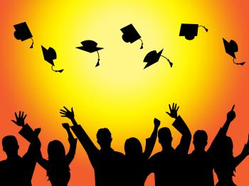 Graduation Education Means Graduate Diploma And Train