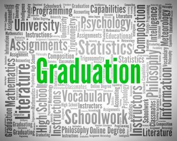 Graduation Word Represents University Phd And Diploma
