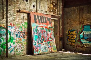 Graffiti Art on Concrete Block Walls