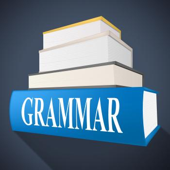 Grammar Book Indicates Rules Of Language And Learning