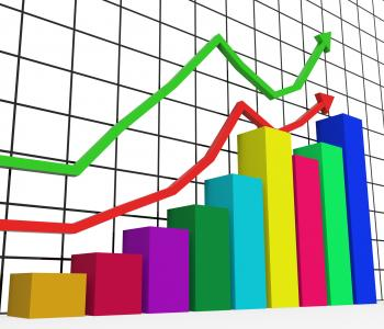 Graph Increasing Indicates Growth Statistics And Increase