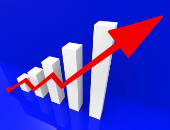 Graph Increasing Shows Financial Report And Advance