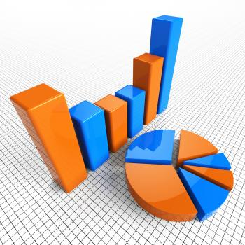 Graph Report Indicates Business Statistic And Diagram