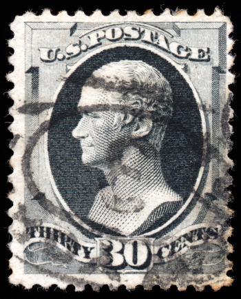 Gray Alexander Hamilton Stamp