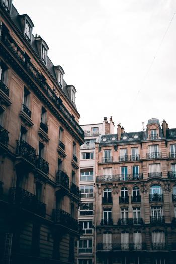 Gray and Black Concrete Buildings