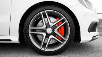Gray and Black Mercedes Benz 10 Spoke Wheel