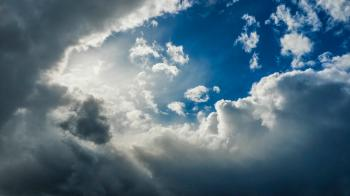 Gray Clouds With Blue Sky