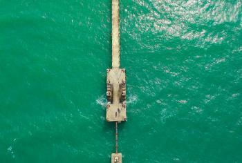 Gray Concrete Bridge Dock