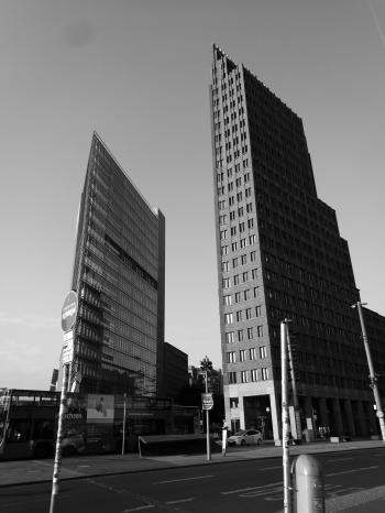 Gray Scale Photo of High Rise Building
