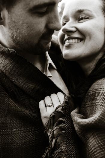 Gray Scale Photography of Couple