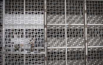 Gray Steel Fence