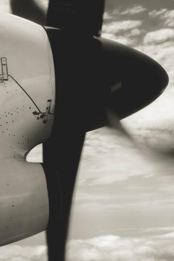 Grayscale Photo Of Airplane Propeller