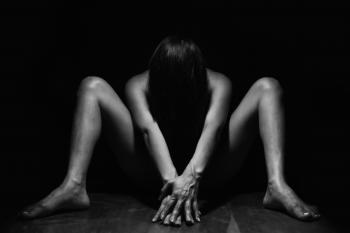 Grayscale Photo of Naked Person