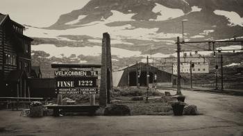 Grayscale Photo of Velkommen Til Finse 1222