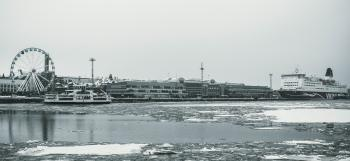 Grayscale Photography Of Ship On Body Of Water