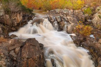 Great Falls Autumn Cascades - HDR