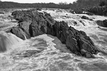Great Falls Leviathan - Black and White