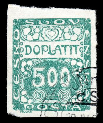 Green Art Nouveau Stamp