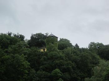 Green castle in Koblenz, Germany