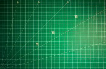 Green Cutting mat background
