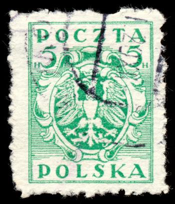Green Eagle Crest Stamp