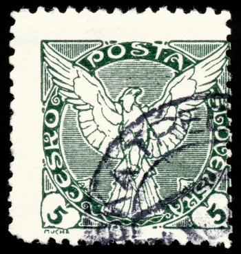 Green Falcon Stamp