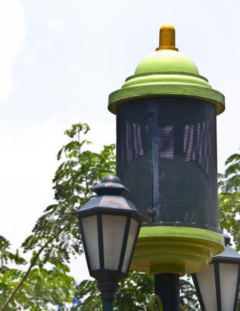 Green Garden Lamp