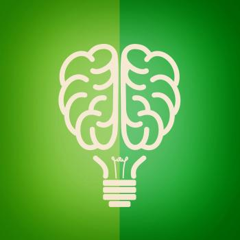 Green lightbulb brain - Green concept