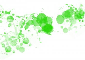 Green Paint Splats